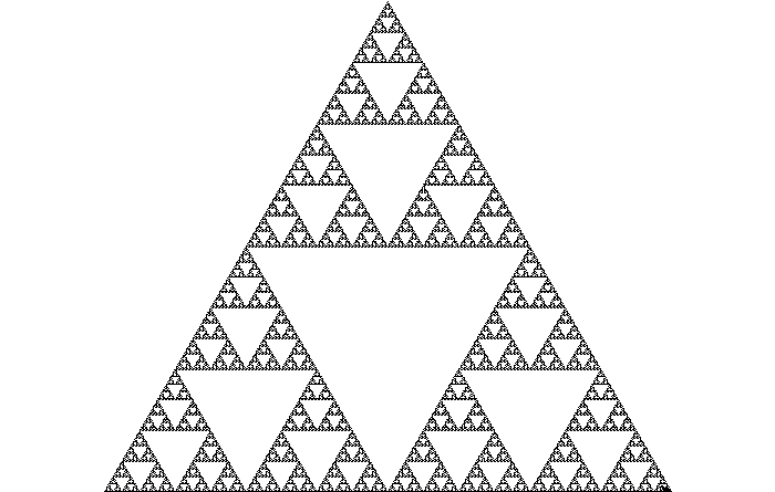 Sierpinski Triangle, drawn by a Turtle