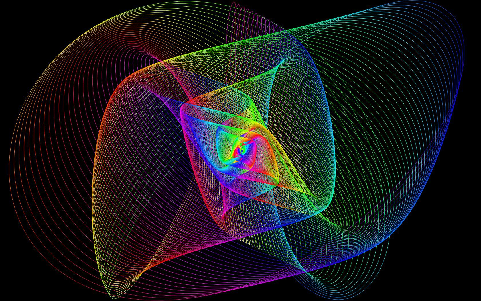 Spectral Harmonographs - Pretty Math Pictures